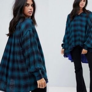 Free People Come On Over oversized flannel